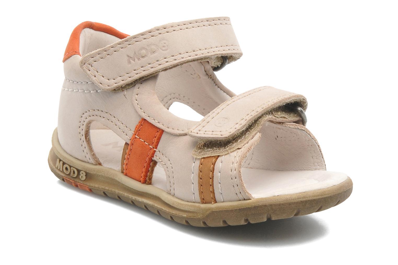 Sandales et nu-pieds Mod8 IDRIS Beige vue détail/paire