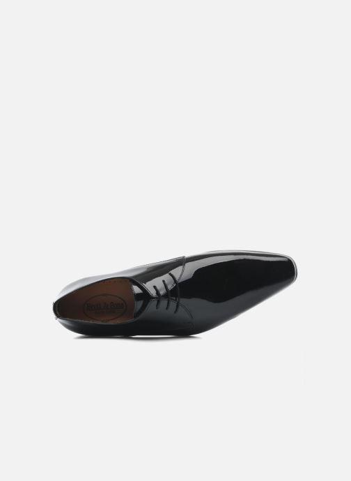Zapatos con cordones Brett & Sons Carl Negro vista lateral izquierda