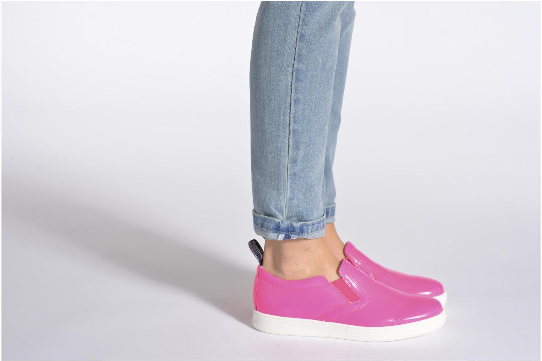 Sneakers Love Moschino Love Tasha Rosa immagine dal basso