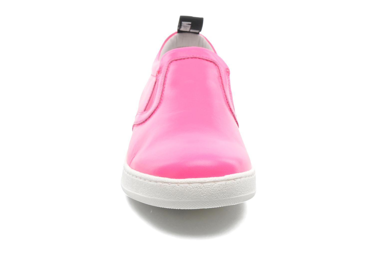 Sneakers Love Moschino Love Tasha Rosa modello indossato