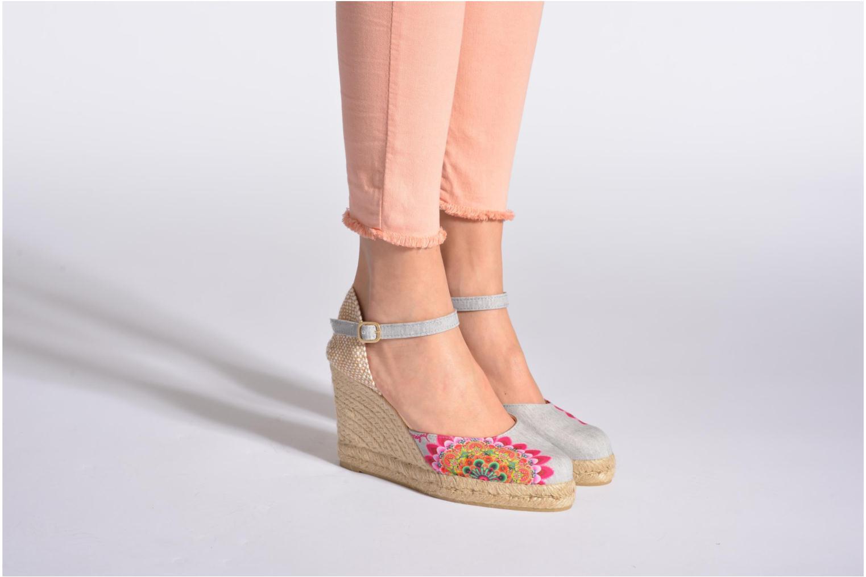 Sandales et nu-pieds Desigual Silla Multicolore vue bas / vue portée sac