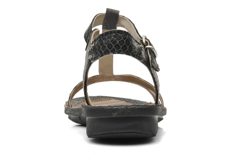 Sandales et nu-pieds Khrio Amy Noir vue droite