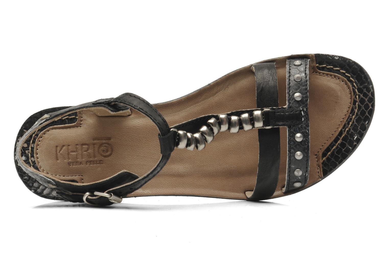 Sandales et nu-pieds Khrio Amy Noir vue gauche