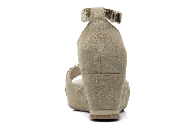 Sandales et nu-pieds Khrio Lou N Gris vue droite