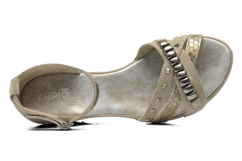 Sandales et nu-pieds Khrio Lou N Gris vue gauche