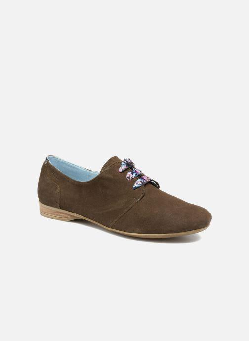 Snøresko Dorking Candy 5058 Grøn detaljeret billede af skoene