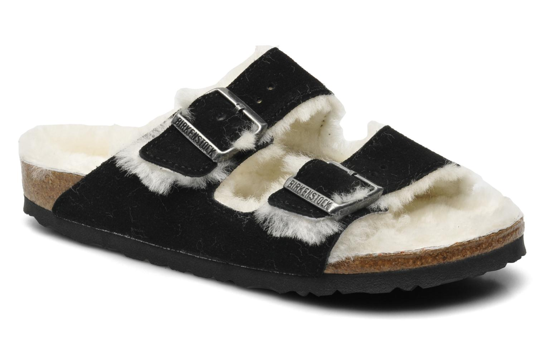 Clogs og træsko Birkenstock Arizona Velours-Fourrure W Sort detaljeret billede af skoene