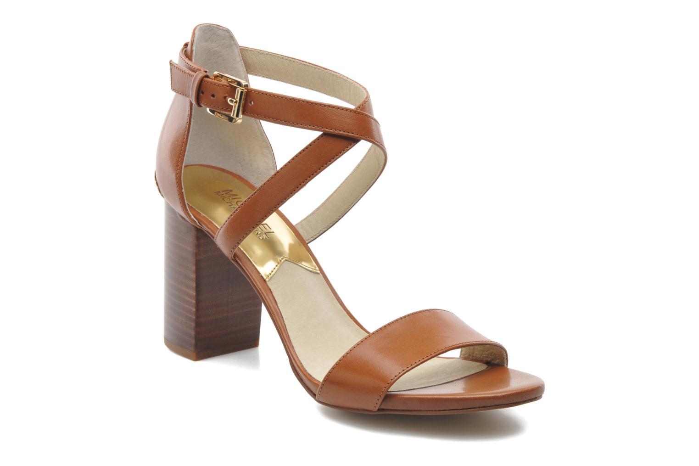 Sandalen Michael Michael Kors Nadja Cross Strap braun detaillierte ansicht/modell