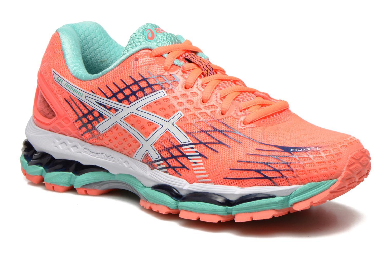 the best attitude 1d948 0c2de ... germany chaussures de sport asics gel nimbus 17 w orange vue détail  paire b192c 8b0ff