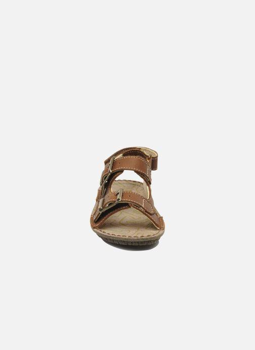 Sandals El Naturalista Kiri E277 Brown model view