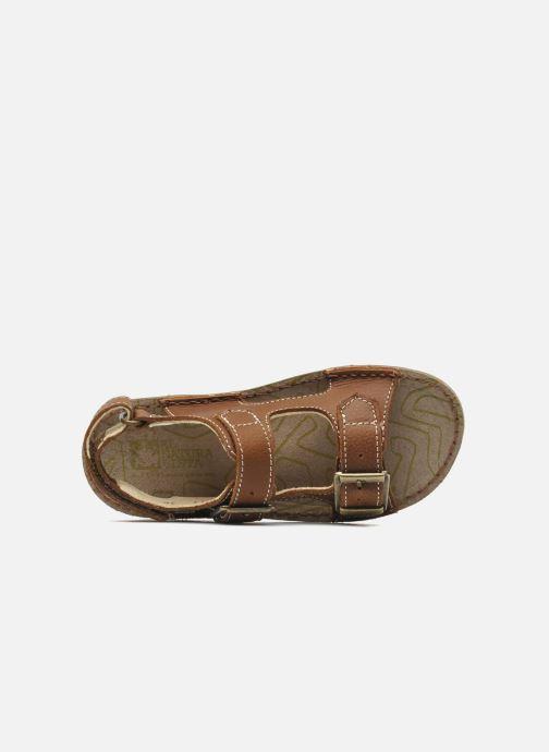 Sandales et nu-pieds El Naturalista Kiri E277 Marron vue gauche