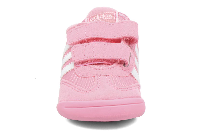 Baskets Adidas Originals Dragon L2W Crib Rose vue portées chaussures