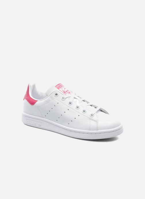 meet 5849c af4c1 Baskets adidas originals STAN SMITH J Blanc vue détail paire