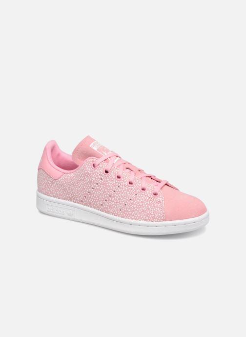 Baskets adidas originals STAN SMITH J Rose vue détail/paire