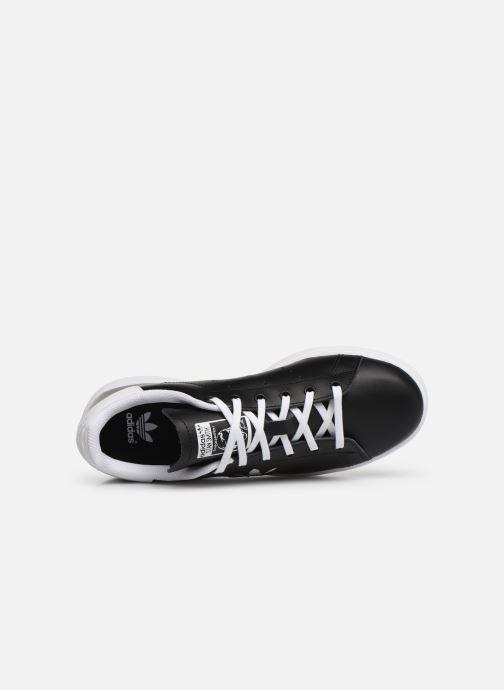 Baskets adidas originals STAN SMITH J Noir vue gauche