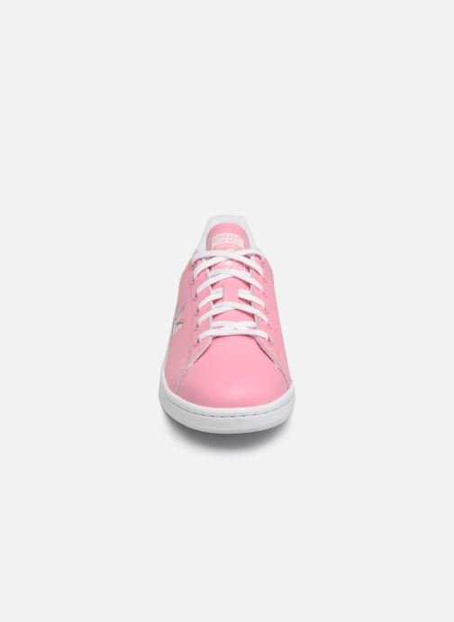 Baskets adidas originals STAN SMITH J Rose vue portées chaussures
