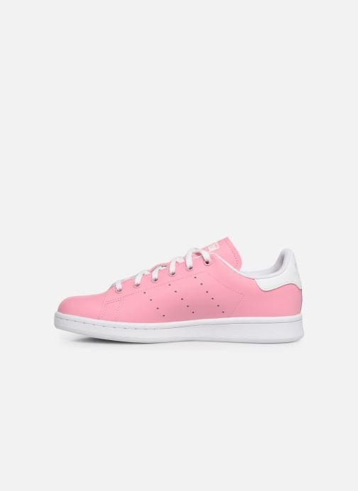 Trainers adidas originals STAN SMITH J Pink front view