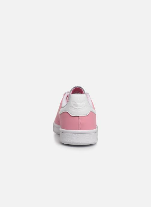 Trainers adidas originals STAN SMITH J Pink view from the right