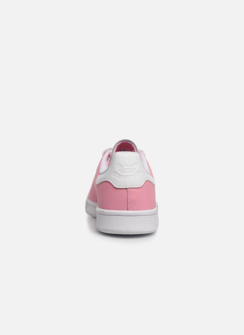 Baskets adidas originals STAN SMITH J Rose vue droite