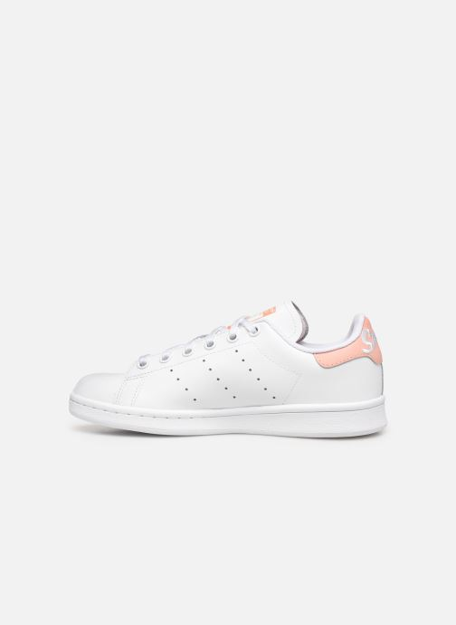 Sneakers adidas originals STAN SMITH J Hvid se forfra