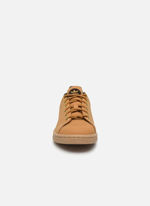 Sneaker adidas originals STAN SMITH J braun schuhe getragen