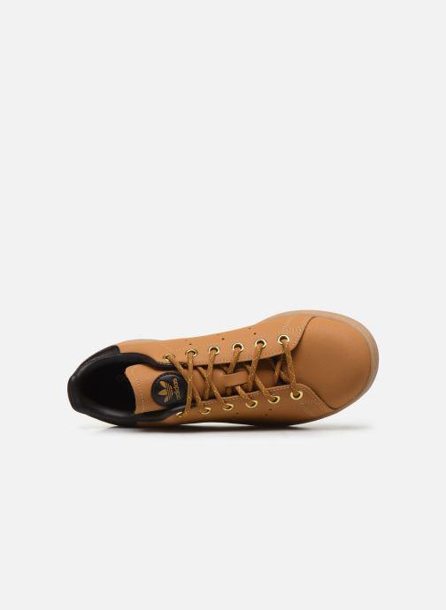 Baskets adidas originals STAN SMITH J Marron vue gauche
