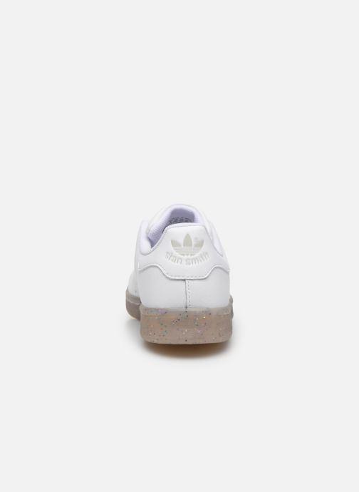 Sneakers adidas originals STAN SMITH J Wit rechts