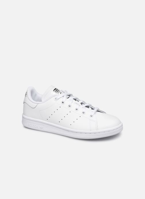 Baskets adidas originals STAN SMITH J Blanc vue détail/paire