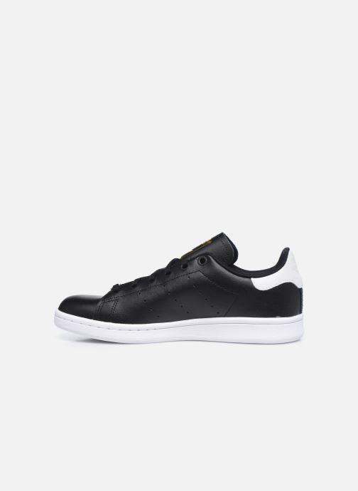 Baskets adidas originals STAN SMITH J Noir vue face