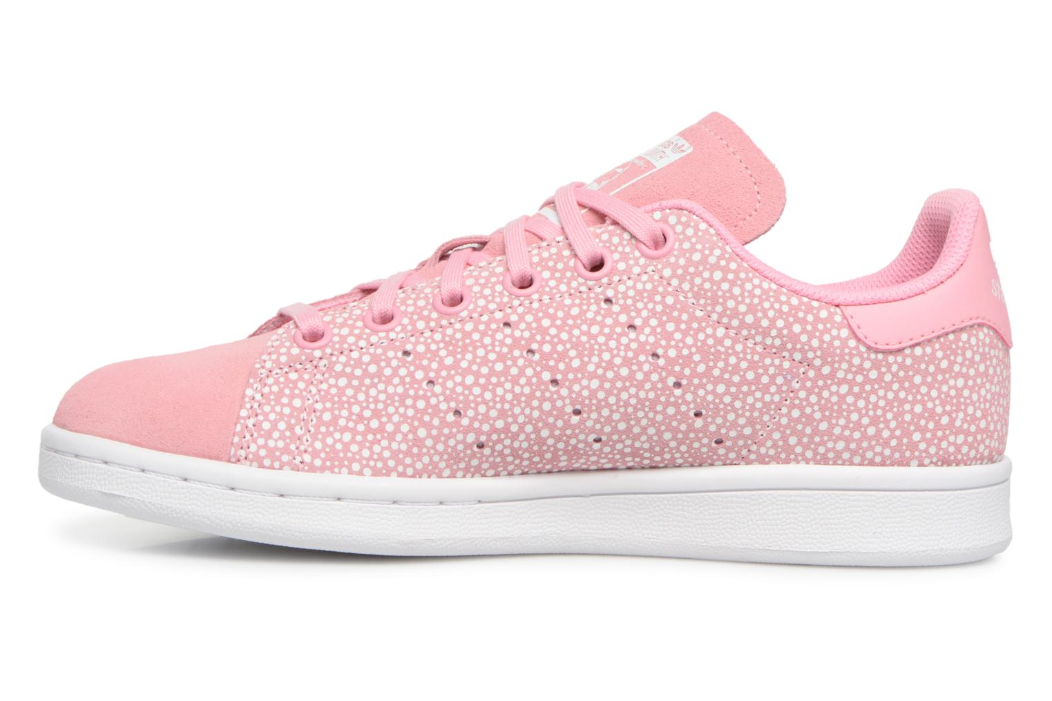 Baskets Adidas Originals STAN SMITH J Rose vue face