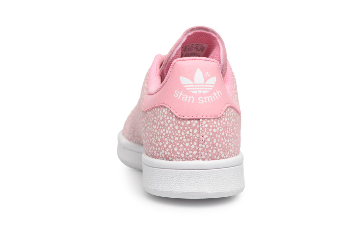 Baskets Adidas Originals STAN SMITH J Rose vue droite