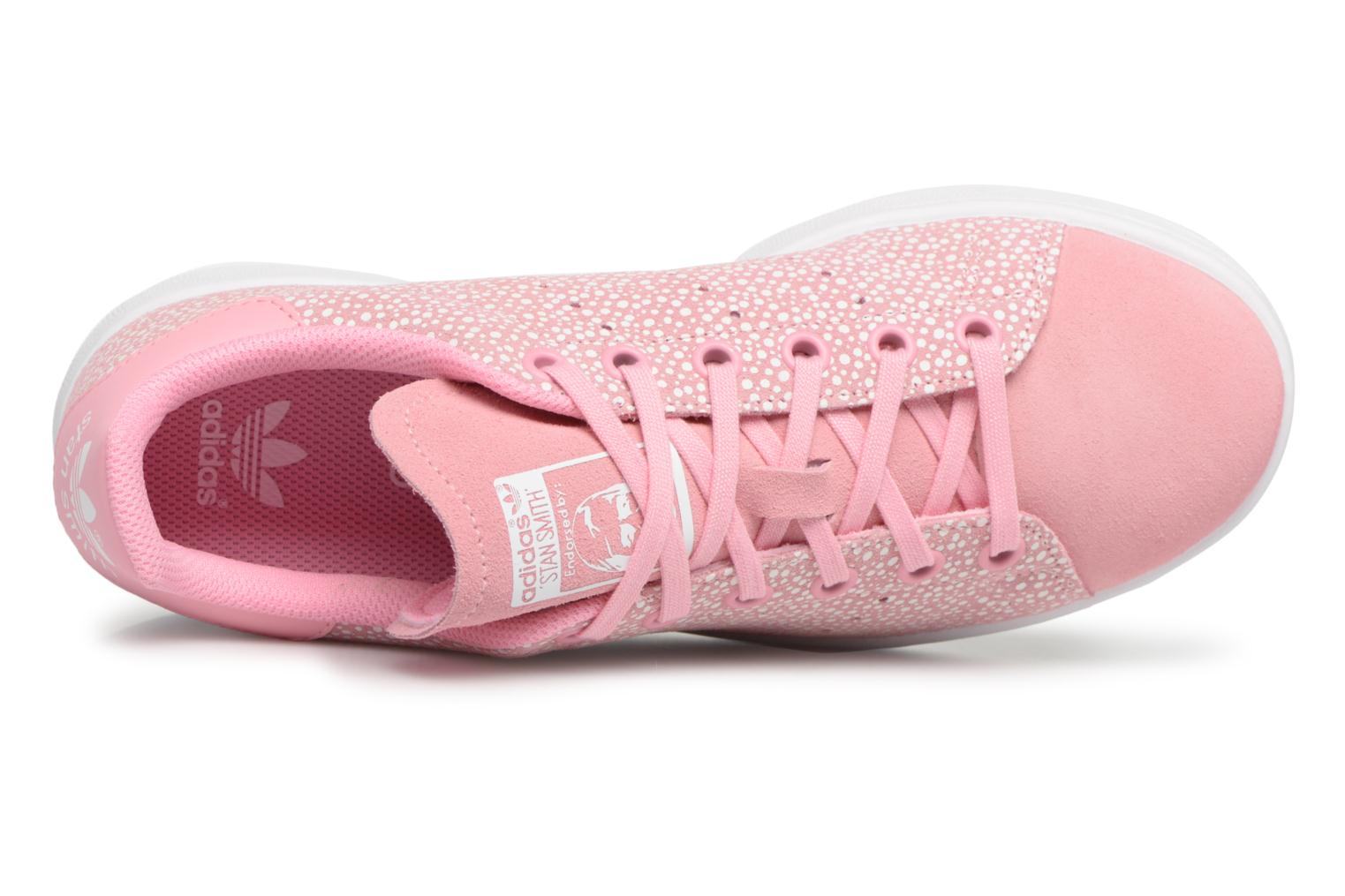 Baskets Adidas Originals STAN SMITH J Rose vue gauche