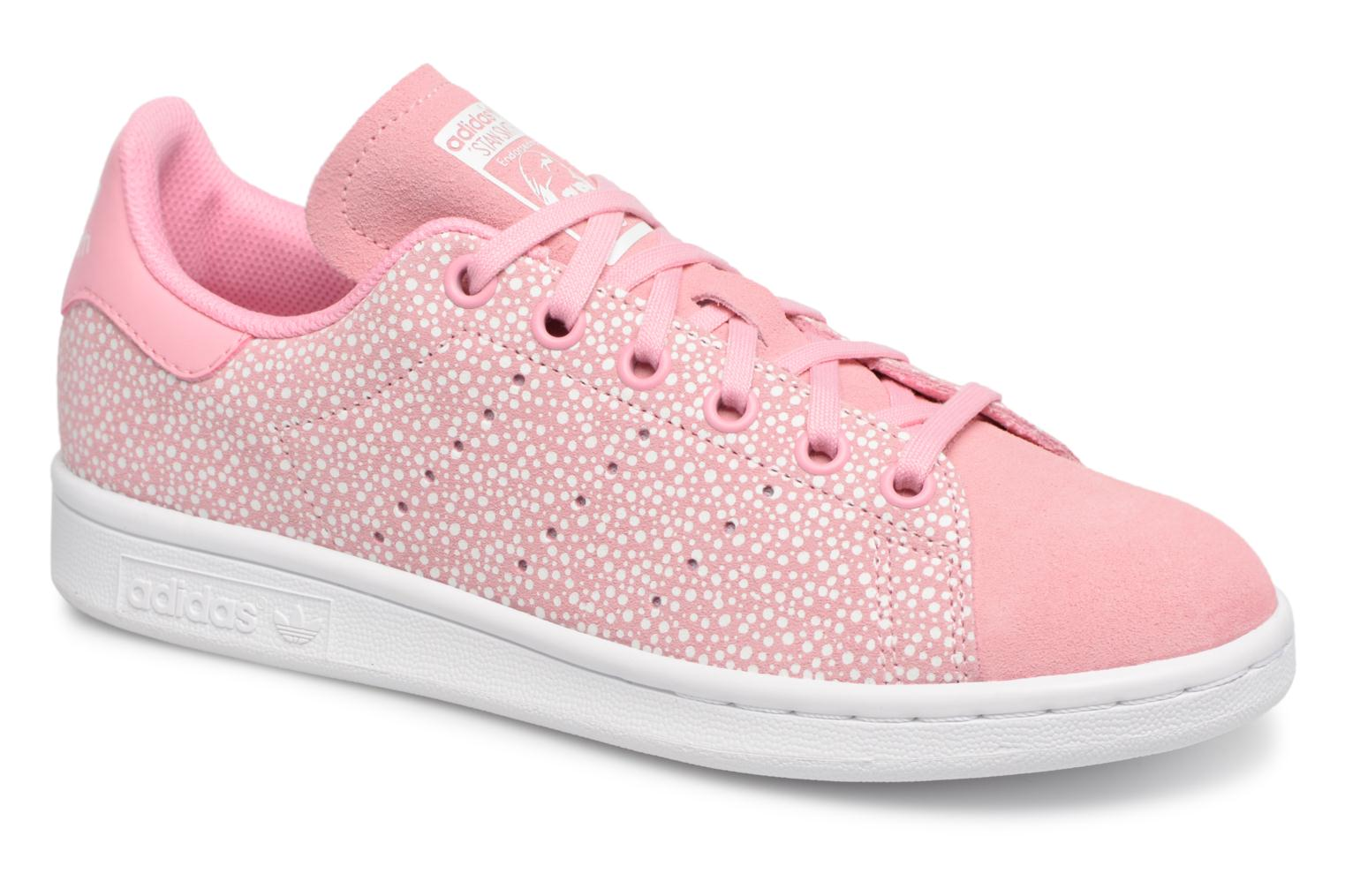 Baskets Adidas Originals STAN SMITH J Rose vue détail/paire