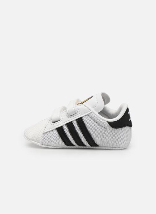 Sneakers adidas originals SUPERSTAR CRIB Wit voorkant