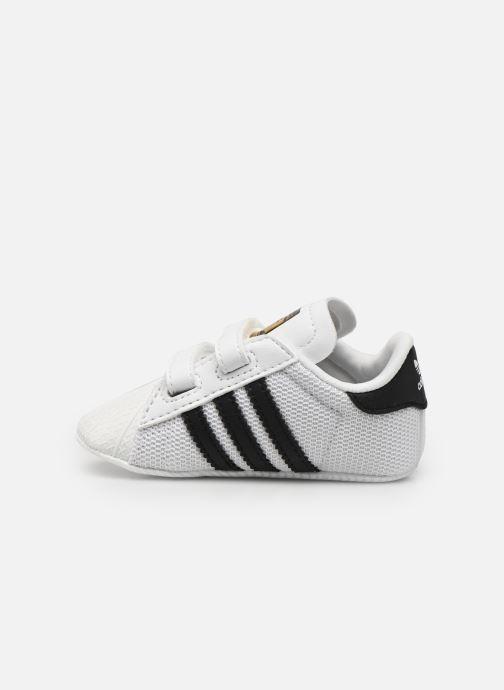 Sneakers adidas originals SUPERSTAR CRIB Wit voorkant