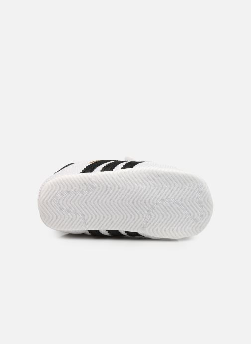 Trainers adidas originals SUPERSTAR CRIB White view from above