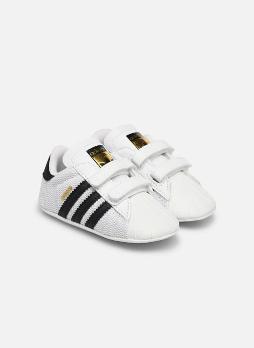 Trainers adidas originals SUPERSTAR CRIB White detailed view/ Pair view