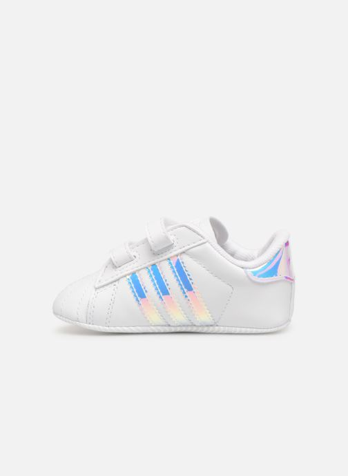 Baskets adidas originals SUPERSTAR CRIB Blanc vue face