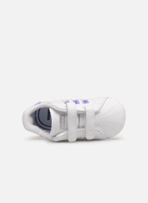 Baskets adidas originals SUPERSTAR CRIB Blanc vue gauche