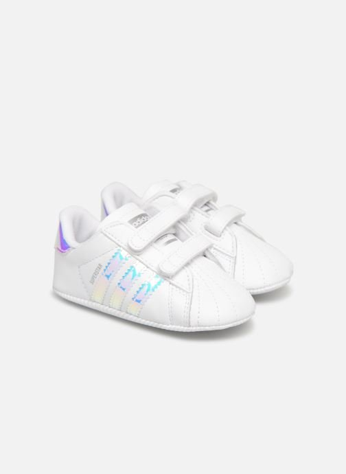 Baskets adidas originals SUPERSTAR CRIB Blanc vue détail/paire