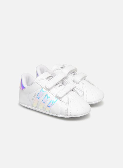 Baskets adidas originals SUPERSTAR CRIB Blanc vue détail/paire