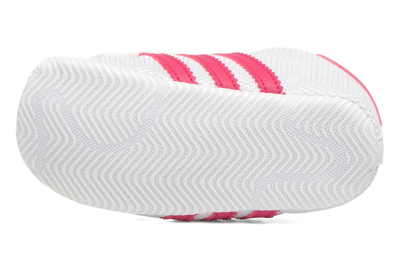 Sneakers Adidas Originals SUPERSTAR CRIB Wit boven