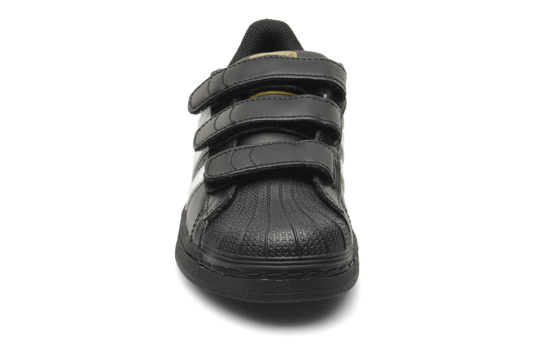Sneaker Adidas Originals Superstar Foundation Cf C schwarz schuhe getragen