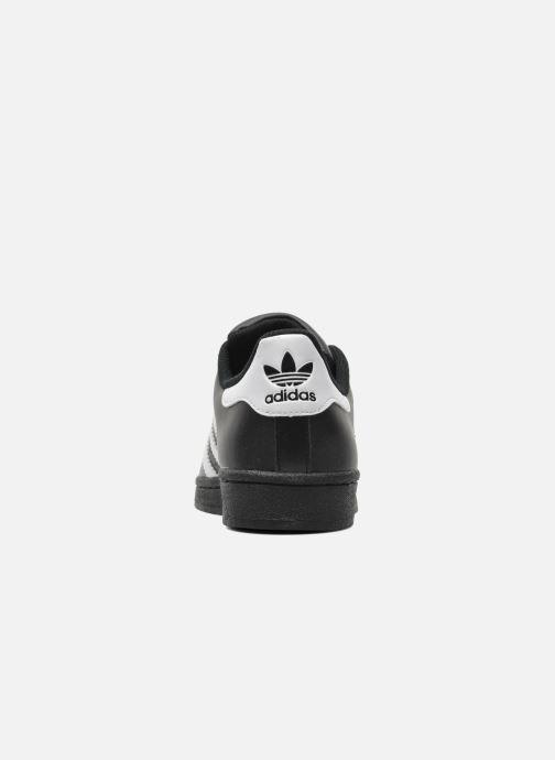 Baskets adidas originals Superstar Foundation J Noir vue droite