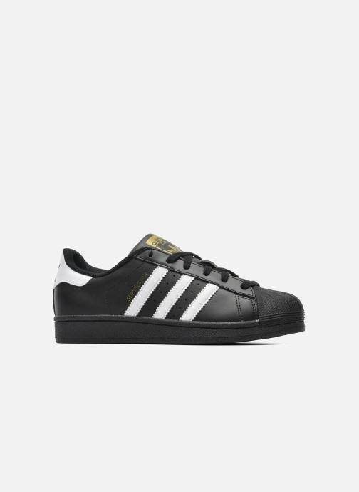 Deportivas adidas originals Superstar Foundation J Negro vistra trasera