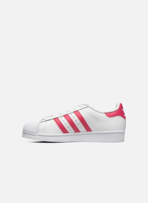 Sneakers adidas originals Superstar Foundation J Wit voorkant