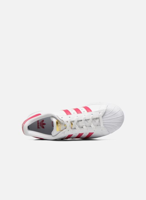 Baskets adidas originals Superstar Foundation J Blanc vue gauche