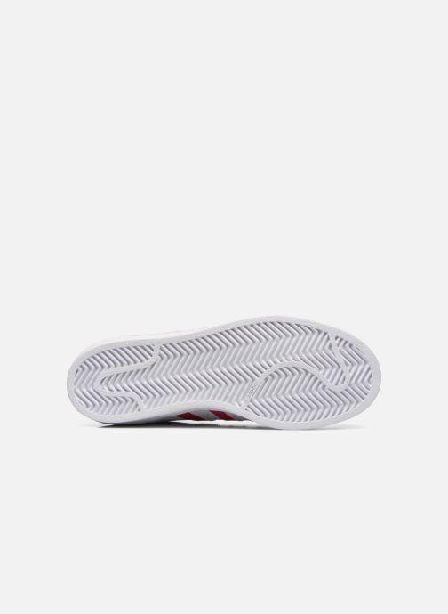 Baskets adidas originals Superstar Foundation J Blanc vue haut