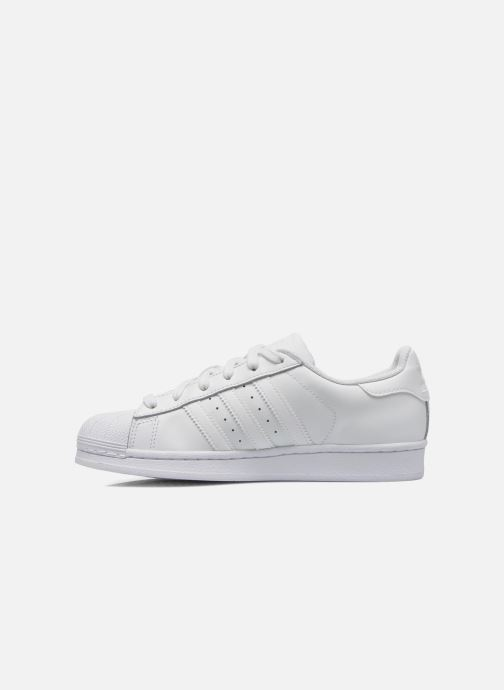 Sneakers adidas originals Superstar Foundation J Bianco immagine frontale