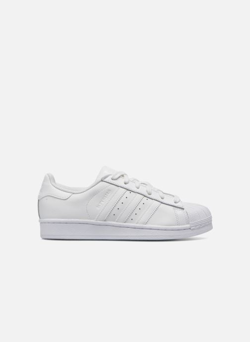 Baskets adidas originals Superstar Foundation J Blanc vue derrière